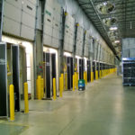 truck loading stations in warehouse with RFID portals