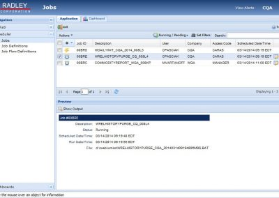Scheduler Menu to navigate iCARaS EDI job ID