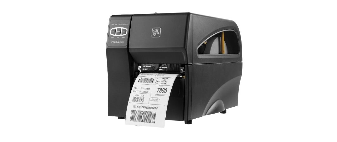 Zebra ZT200 Industrial Printer with label coming out