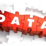 integrated data letters on red puzzle pieces