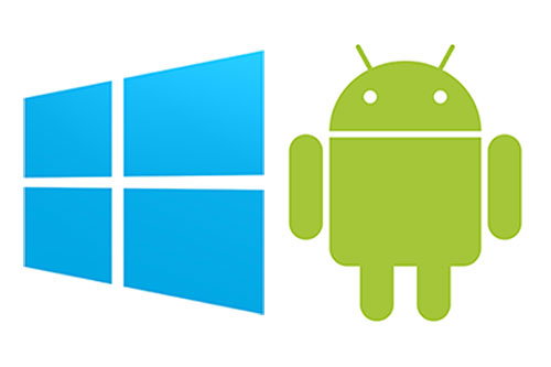 Android and Windows logos. Are you ready for the Android OS Migration?