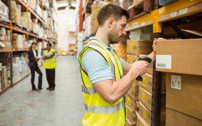 What is the role of barcodes in inventory management?